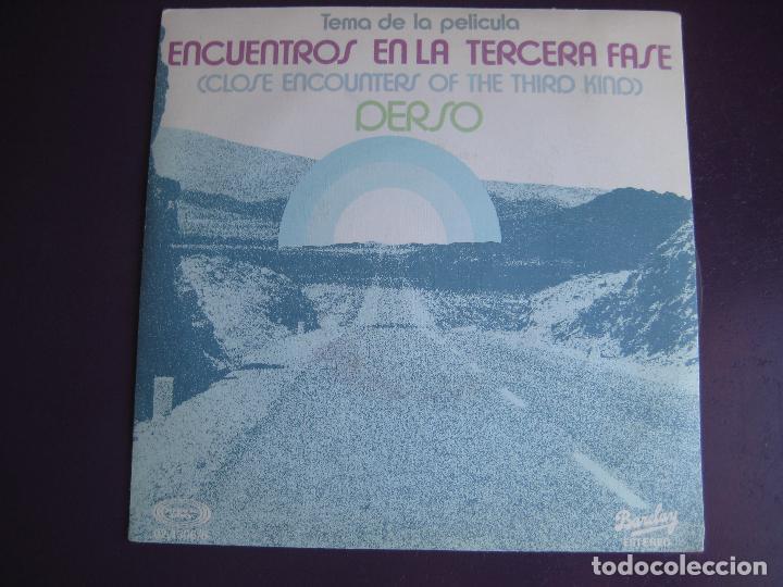 DERSO SG BARCLAY 1978 - ENCUENTROS EN LA TERCERA FASE BSO - ELECTRONIC SINFONICO DISCO - CINE (Música - Discos - Singles Vinilo - Bandas Sonoras y Actores)