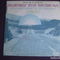 Disques de vinyle: DERSO SG BARCLAY 1978 - ENCUENTROS EN LA TERCERA FASE BSO - ELECTRONIC SINFONICO DISCO - CINE. Lote 110700899