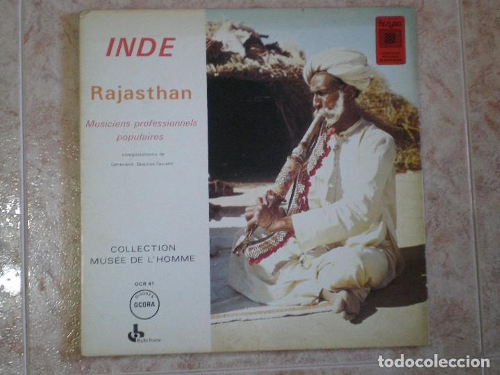 DISCO LP INDE RAJASTHAN MUSICIENS PROFESSIONNELS POPULAIRES. MUSÉE DE L'HOMME. ACORA FRANCIA (Música - Discos - LP Vinilo - Étnicas y Músicas del Mundo)
