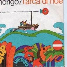 Discos de vinilo: ENDRIGO (SERGIO ENDRIGO) - L'ARCA DI NOÉ XX FESTIVAL DE SAN REMO 1970 - SINGLE ITALY . Lote 110723031