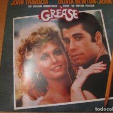 Discos de vinilo: DISCO VINILO DOBLE BANDA SONORA GREASE AÑO 1978 JOHN TRAVOLTA OLIVIA NEWTON JOHN. Lote 110726999