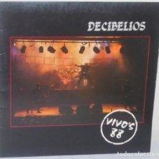 Discos de vinilo: DECIBELIOS - VIVOS 88 DMM - 1987 GAT. Lote 110730131