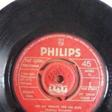 Discos de vinilo: THE BEACH SCORPIONS – MO MA YENGYE YEN ANI - VINYL, 7, 45 RPM, MONO - GHANA 1973 AFRICAN,. Lote 110736579