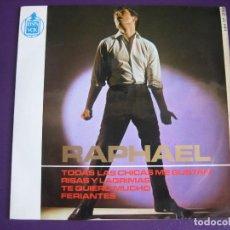 Discos de vinilo: RAPHAEL EP HISPAVOX 1965 TODAS LAS CHICAS ME GUSTAN/ TE QUIERO MUCHO/ RISAS Y LAGRIMAS/ FERIANTES. Lote 110759087