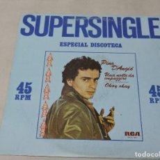 Discos de vinilo: PINO D'ANGIO - UNA NOTTE DA IMPAZZIRE / OKAY OKAY 12'' SPAIN 1981. Lote 110780791