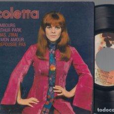 Discos de vinilo: NICOLETTA - VOL 6. LE LUXEMBOURG + 3 - EP - RIVIERA 1968 - 231337 M EDICIÓN FRANCESA. Lote 110789611