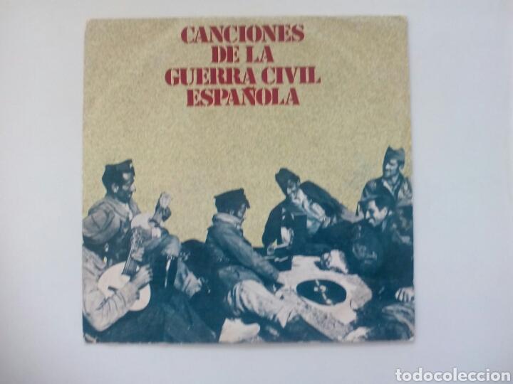 VINILO CANCIONES DE LA GUERRA CIVIL ESPAÑOLA. 1978. (Música - Discos - Singles Vinilo - Otros estilos)