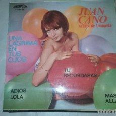 Discos de vinilo: JUAN CANO - UNA LAGRIMA EN TUS OJOS +3 FONOPOLIS 1965. Lote 110816203
