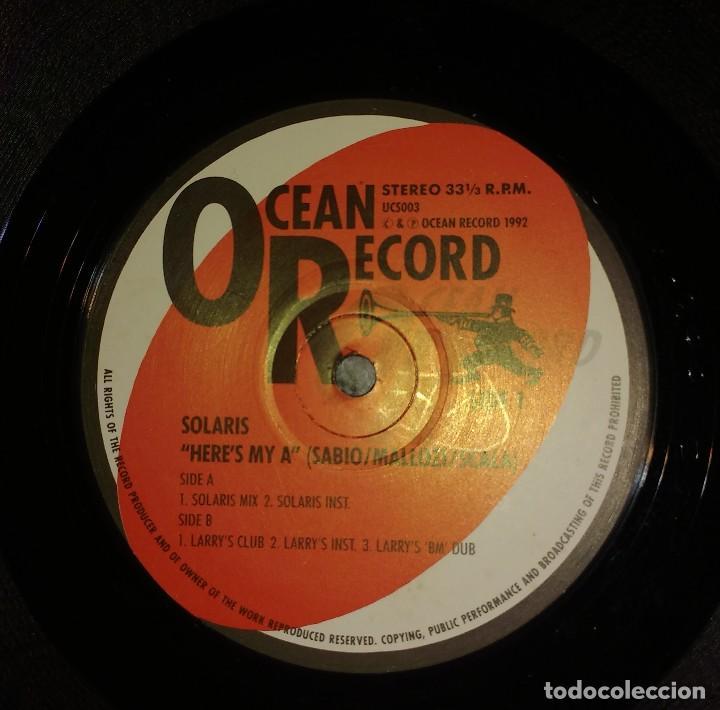 SOLARIS – HERE'S MY A (Música - Discos de Vinilo - Maxi Singles - Techno, Trance y House)