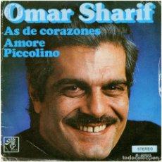 Discos de vinilo: OMAR SHARIF (NICOLE CROISILLE) - AS DE CORAZONES - SG SPAIN 1974 - BOCACCIO RECORDS B-32523. Lote 110894487