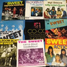 Discos de vinilo: LOTE 9 SINGLES DIFERENTES THE SWEET. Lote 110903151