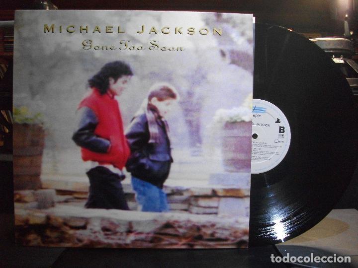 MICHAEL JACKSON GONE TOO SOON MAXI HOLANDA 1993 PEPETO TOP (Música - Discos de Vinilo - Maxi Singles - Pop - Rock Extranjero de los 90 a la actualidad)