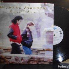Discos de vinilo: MICHAEL JACKSON GONE TOO SOON MAXI HOLANDA 1993 PEPETO TOP . Lote 110911539