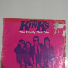 Discos de vinilo: KINKS YOU REALLY GOT ME/STOP YOUR SOBBING. Lote 79934303