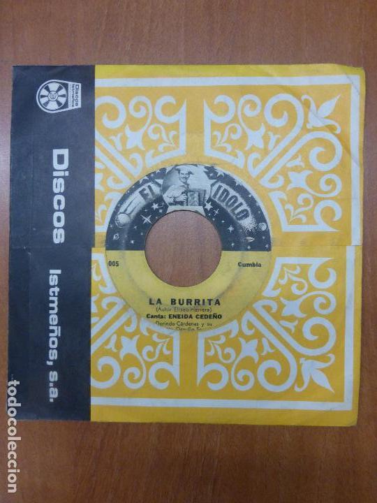 ENEIDA CEDEÑO Y DORINDO CÁRDENAS CON SU CONJUNTO ORGULLO SANTEÑO - LA BURRITA / DAME UN BESO-PANAMA (Música - Discos - Singles Vinilo - Grupos y Solistas de latinoamérica)