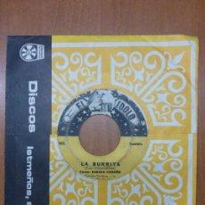 Discos de vinilo: ENEIDA CEDEÑO Y DORINDO CÁRDENAS CON SU CONJUNTO ORGULLO SANTEÑO - LA BURRITA / DAME UN BESO-PANAMA. Lote 176571964