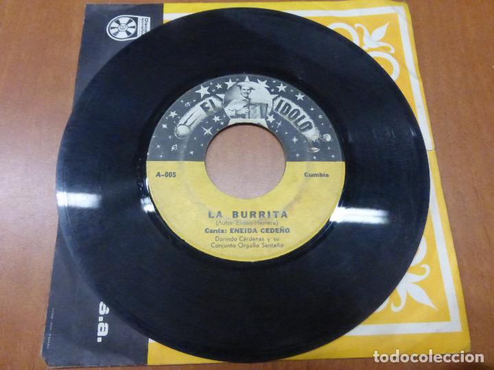 Discos de vinilo: Eneida Cedeño Y Dorindo Cárdenas Con Su Conjunto Orgullo Santeño - la burrita / dame un beso-PANAMA - Foto 2 - 176571964