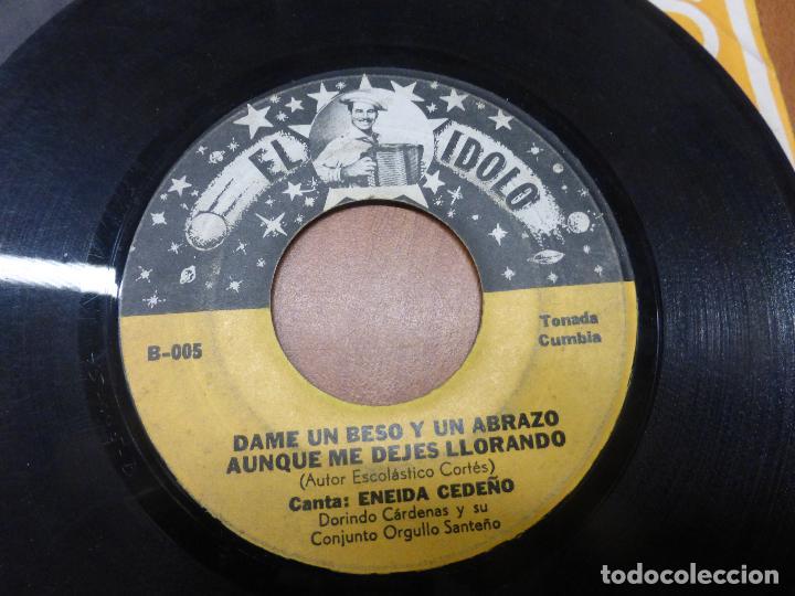 Discos de vinilo: Eneida Cedeño Y Dorindo Cárdenas Con Su Conjunto Orgullo Santeño - la burrita / dame un beso-PANAMA - Foto 4 - 176571964