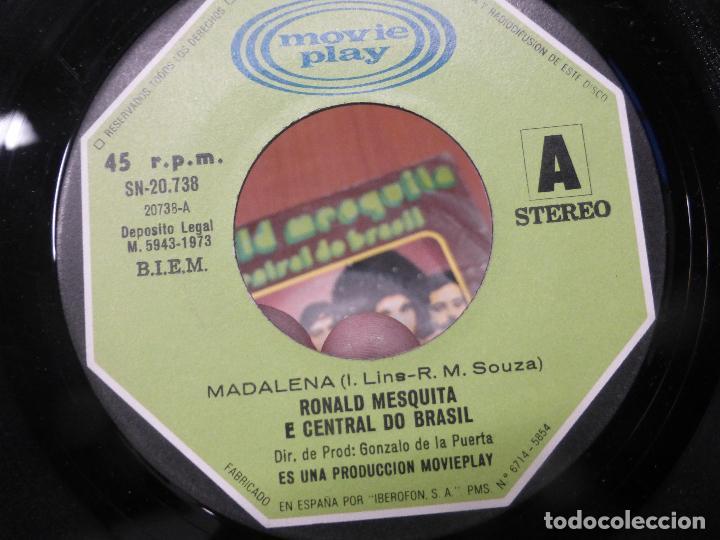 Discos de vinilo: RONALD MESQUITA E CENTRAL DO BRASIL - Madalena / tristeza single 1973 - BOSSA LATIN SOUL - Foto 2 - 110949375