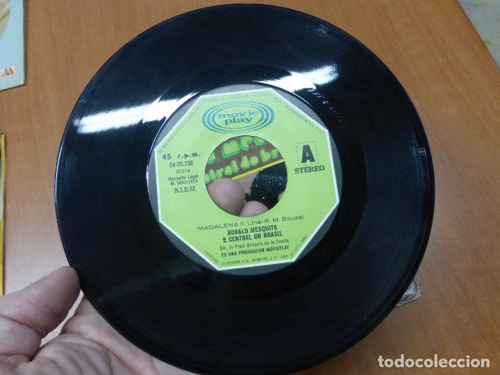 Discos de vinilo: RONALD MESQUITA E CENTRAL DO BRASIL - Madalena / tristeza single 1973 - BOSSA LATIN SOUL - Foto 3 - 110949375