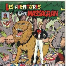 Discos de vinilo: LES AVENTURES D'EN MASSAGRAN, SINGLE ODEON 1958 (DISCO NEGRO). Lote 110963339
