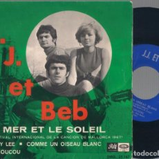 Discos de vinilo: J.J. ET BEB. - LA MER ET LE SOLEIL + 3 - EP - PATHE/EMI EMG 25.147 - 1967. Lote 110978443