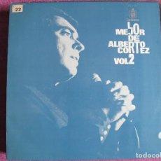 Discos de vinilo: LP - ALBERTO CORTEZ - LO MEJOR DE VOL. 2 (SPAIN, HISPAVOX 1975). Lote 111034099