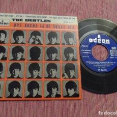 Discos de vinilo: THE BEATLES / QUE NOCHE LA DE AQUEL DIA / I SHOULD HAVE KNOWN BETTER + 2. Lote 111041847