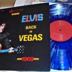 Discos de vinilo: ELVIS PRESLEY BACK IN VEGAS AUGUST 1969 LP EX VINYL ALBUM LISA RECORDS LMP 69-01. Lote 111056019
