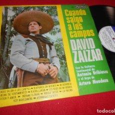 Discos de vinilo: DAVID ZAIZAR CUANDO SALGO A LOS CAMPOS & GUITARRA A.BRIBIESCA&ARPA A.MENDOZA LP 1967 PEERLESS MEXICO. Lote 111089515