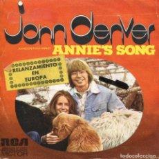 Disques de vinyle: JOHN DENVER / CANCION PARA ANNIE / COOL AN' GREEN AN' SHADY (SINGLE 1974). Lote 111095415