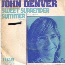 Disques de vinyle: JOHN DENVER / DULCE SUMISION / VERANO (SINGLE PROMO 1975). Lote 111095503