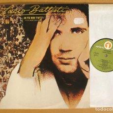 Discos de vinilo: LUCIO BATTISTI - IO TU NOI TUTTI - RCA 1977. Lote 111168655