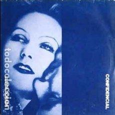 Discos de vinilo: CONFIDENCIAL : LLUVIA DORADA / ESPEJOS RED 3008 EDITADO EN FRANCIA UNICO EN TODOCOLECCION 1989 RARO. Lote 105971755