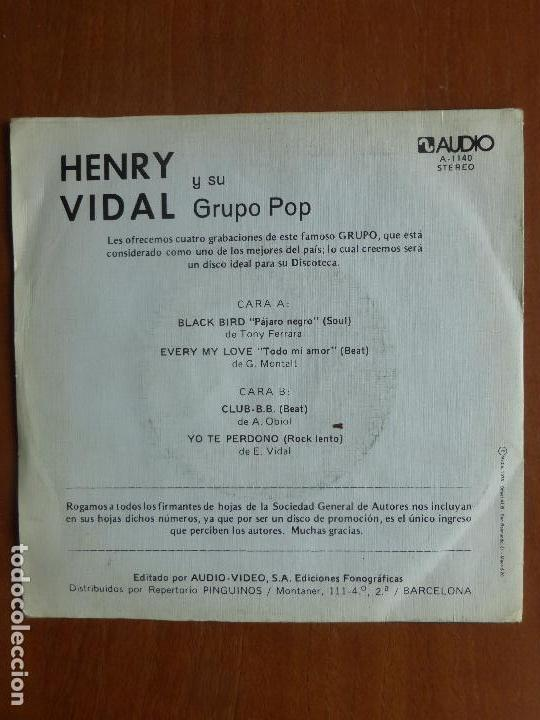 Discos de vinilo: HENRY VIDAL Y SU GRUPO POP-BLACK BIRD +3 TEMAS-SINGLE 1976-SENSACIONAL SOUL-MUY RARO.PERFECTO ESTADO - Foto 4 - 111215211