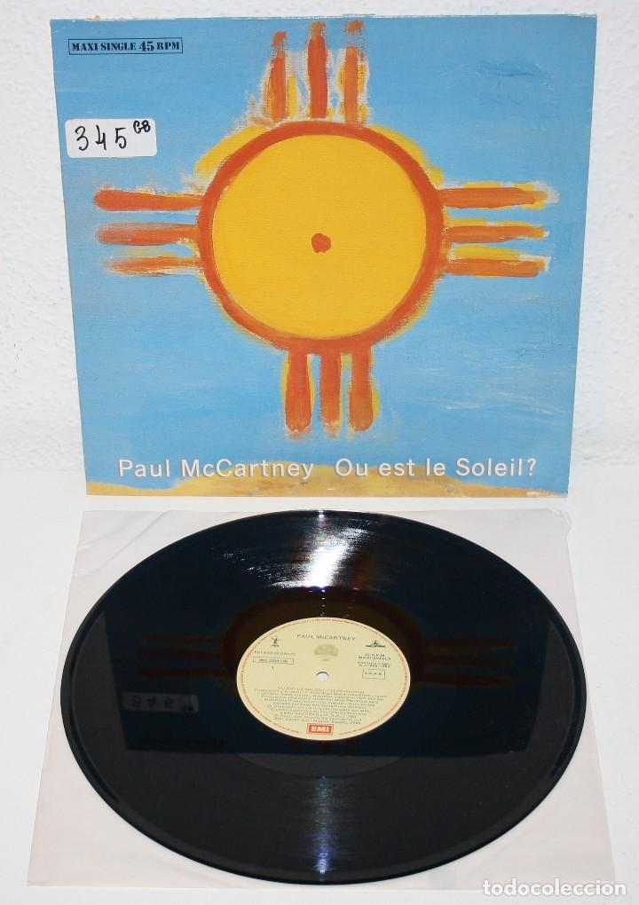 PAUL MCCARTNEY OU EST LE SOLEIL 1989 SPAIN MAXI SINGLE 12 BEATLES SPANISH SPAIN (Música - Discos de Vinilo - Maxi Singles - Pop - Rock Extranjero de los 70)