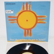 Discos de vinilo: PAUL MCCARTNEY OU EST LE SOLEIL 1989 SPAIN MAXI SINGLE 12 BEATLES SPANISH SPAIN. Lote 111220331