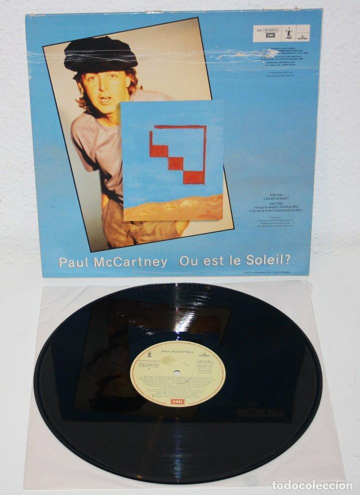 Discos de vinilo: PAUL McCARTNEY Ou Est Le Soleil 1989 Spain MAXI Single 12 beatles spanish spain - Foto 2 - 111220331