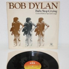 Discos de vinilo: BOB DYLAN BABY STOP CRYING 1978 UK 12 MAXI LIMITED EDITION CBS 12-6499. Lote 111220839