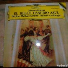 Discos de vinilo: LP. EL BELLO DANUBIO AZUL. STRAUSS. KARAJAN. DEUTSCHE GRAMMOPHON. Lote 111223063