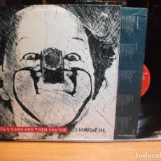 Discos de vinilo: IT'S IMMATERIAL LIFE'S HARD AND THEN YOU DIE LP SPAIN 1986 PDELUXE. Lote 111235647
