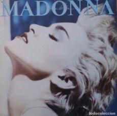 Discos de vinilo: MADONNA. TRUE BLUE. LP ESPAÑA CON FUNDA INTERIOR CON LETRAS.. Lote 111241363