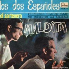 Discos de vinilo: DOS ESPAÑOLES, EP, MALDITA + 3, AÑO 1966. Lote 111263655