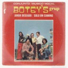 Disques de vinyle: NUMULITE SINGLE 0028 BOTEY'S GRUP AMOR DESEADO SOLO UN CAMINO. Lote 111267535