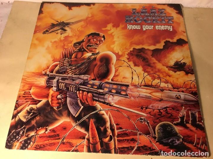 REF35 LP LAAZ ROCKIT - KNOW YOUR ENEMY ENIGMA DRO 1987 EDICION ESPAÑOLA (Música - Discos - LP Vinilo - Heavy - Metal)
