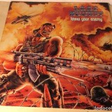 Discos de vinilo: REF35 LP LAAZ ROCKIT - KNOW YOUR ENEMY ENIGMA DRO 1987 EDICION ESPAÑOLA. Lote 111273103