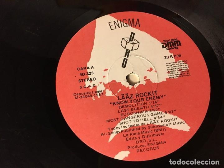 Discos de vinilo: REF35 LP laaz rockit - know your enemy enigma dro 1987 EDICION ESPAÑOLA - Foto 5 - 111273103