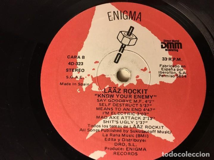 Discos de vinilo: REF35 LP laaz rockit - know your enemy enigma dro 1987 EDICION ESPAÑOLA - Foto 8 - 111273103