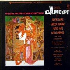 Discos de vinilo: CAMELOT LP BANDA SONORA ORIGINAL MUSICA FREDERICK LOEWE WB 1712 USA LP. Lote 9335921