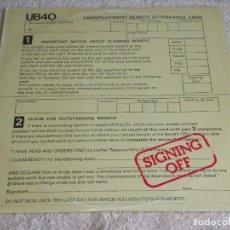 Discos de vinilo: UB40 ( SIGNING OFF ) LP33+MAXI45 1980-SWEDEN GRADUATE RECORDS. Lote 111316859